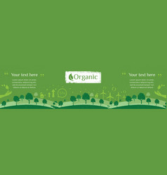 Billboard or web banner of clean green environment vector