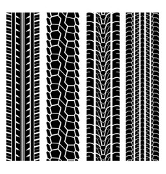 Black tire track set 1 vector