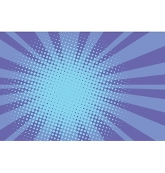 Blue rays retro comic pop art background vector image
