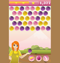 Bubble shooter game interface with bonus vector