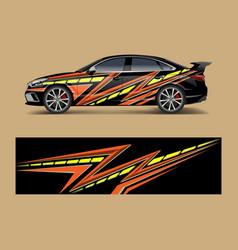 Car wrap design for sport car car wrap design for vector