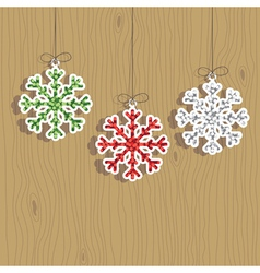 Christmas snowflake decorations vector