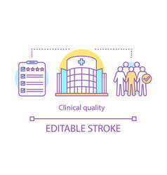 Clinical quality concept icon vector