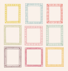 collection doodle colored borders vector image