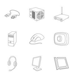 Computer accessories headphones computer parts vector