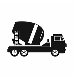 Concrete mixer truck icon simple style vector image