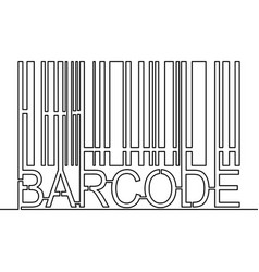 continuous line drawing barcode icon vector image