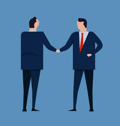 contract agreement business people standing vector image