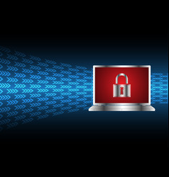cyber security master key lock laptop vector image