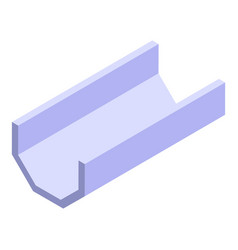 Drain gutter icon isometric style vector