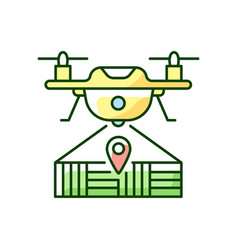 Drone mapping rgb color icon vector