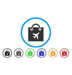 duty free shopping rounded icon vector image