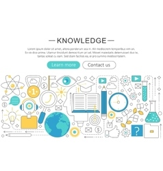 Elegant thin line flat modern Knowledge vector