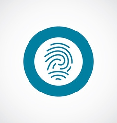 fingerprint icon bold blue circle border vector image