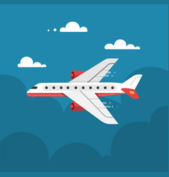 flat airplane vector image