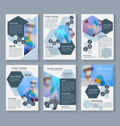 Flyer cover business brochure magazine design vector
