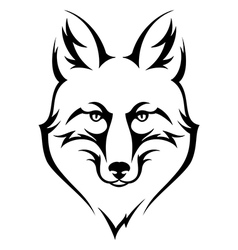 fox black vector image