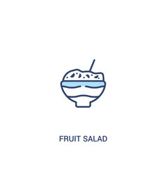 Fruit salad concept 2 colored icon simple line vector