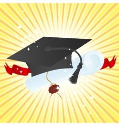 graduate vector image