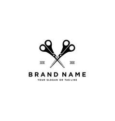 Haircut logo design vector