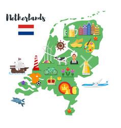 Holland national cultural symbols vector