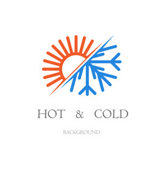 hot and cold background vector image
