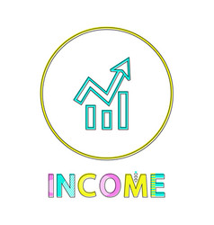 income bright round icon template for online app vector image