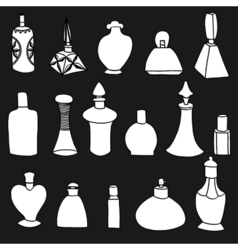 Isolated perfume bottles vector