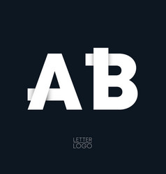 letter a and b template logo design vector image