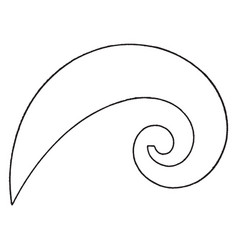Logarithmic spiral curve french curve radius vector