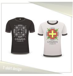 medical marijuana tshirt six vector image