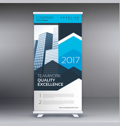 modern business roll up banner design template vector image