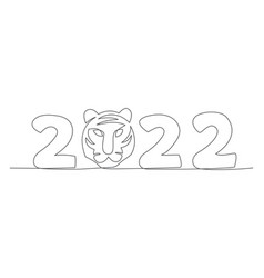 new year one line drawing christmas vector image