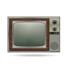 Old retro tv vector
