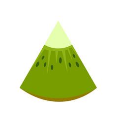 piece of kiwi icon flat style vector image