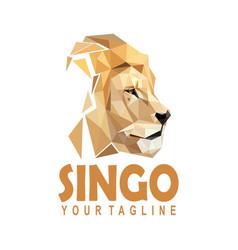 Polygonal lion logo vector