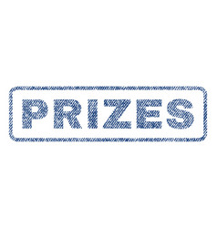Prizes textile stamp vector