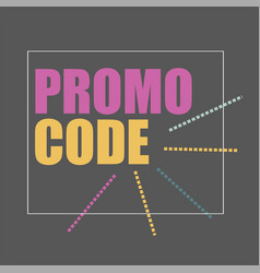 Promo code coupon code flat banner design vector
