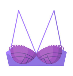 Purple woman glamour bra isolated on white vector