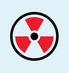 radioactive symbol vector image