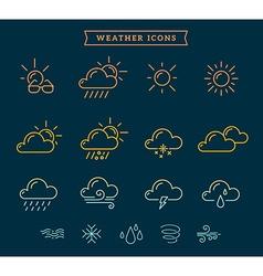 Rainbow gradient weather theme icon set o vector