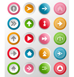 round buttons with arrow symbols vector image