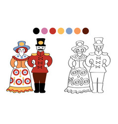 Russian folk clay toys vector
