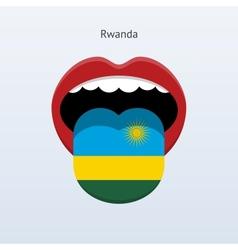 Rwanda language Abstract human tongue vector