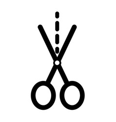 scissors cutting isolated icon vector image