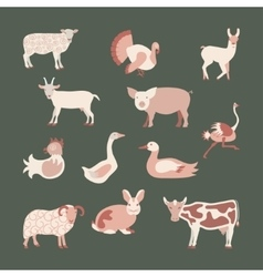 Set farm animals vector