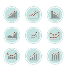 Simple set of diagram vector image