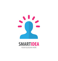 smart idea logo for business company simple smart vector image