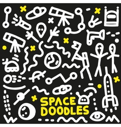 Space - doodles set vector