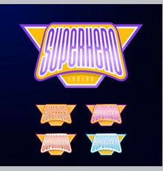 sport emblem typography super hero logotype vector image